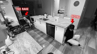 CAUGHT RAKE ON OUR SECURITY CAMERAS AT 3 AM!! *THERE WAS TWO*