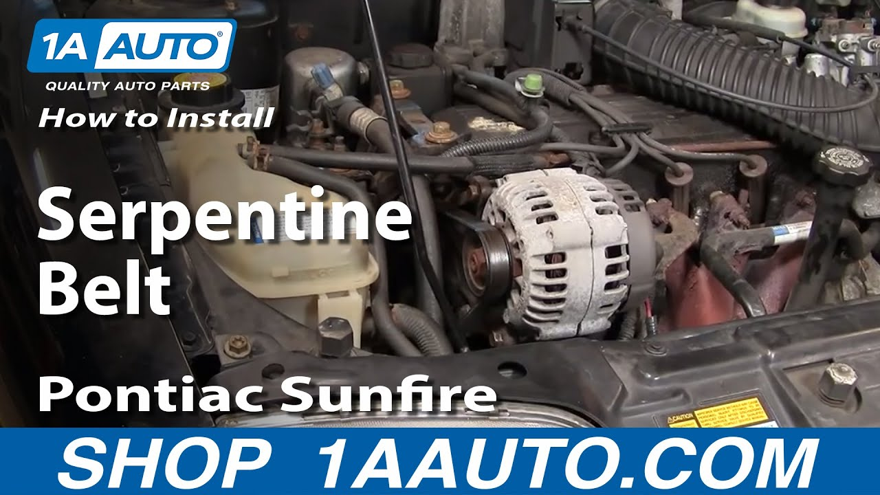 hight resolution of how to replace serpentine belt 96 98 pontiac sunfire