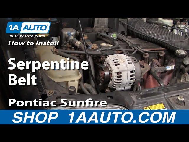 how to replace serpentine belt 96 98 pontiac sunfire 1a auto  pontiac sunfire 2 2 ecotec engine on 97 sunfire engine diagram belt #8