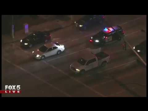 Car chase through Orange County, California