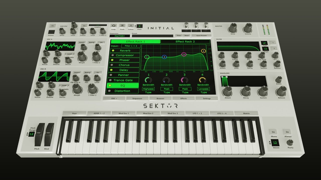 SEKTOR - WAVETABLE SYNTHESIZER by INITIAL AUDIO