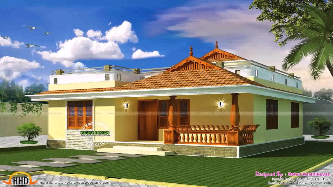 Small kerala style house plans youtube for Small house design kerala style