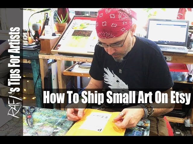 How To  Ship Small Art  Items On Etsy - A Step By Step - Tips For Artists