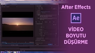 After Effects  Video Boyutu Düşürme (Kalite Düşürmeden)