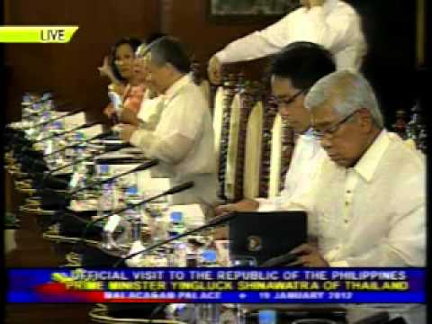 PTV: Visit of Prime Minister Yingluck Shinawatra of Thailand to RP [Jan. 19, 2012]