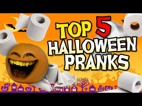 Annoying Orange - Top 5 Halloween Pranks! #Shocktober
