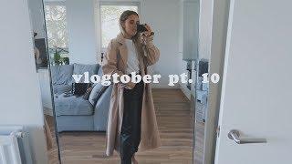 Vlogtober pt. 10 OOTD + TRENCH COAT HAUL + Q&A | Hello October