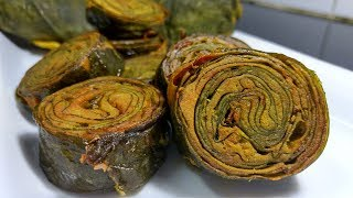 Rikwach Recipe || अर्बी के पकोड़े || U. P. style अर्बी के पकोड़े ||Steamed Pkode ||