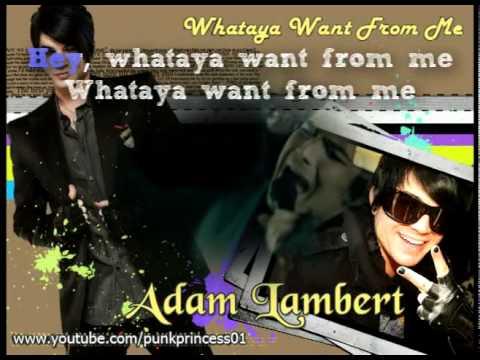 Whataya Want From Me (Instrumental / Karaoke)-Adam Lambert OFFICIAL