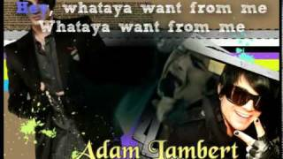 Whataya Want From Me (Instrumental / Karaoke)-Adam Lambert OFFICIAL