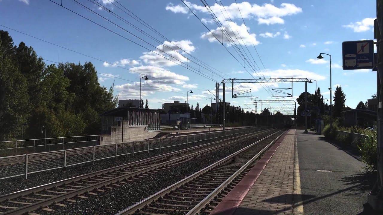 [VR] InterCity nr. 922 from Pieksämäki via Tampere to Turku passing Lempäälä station. - YouTube
