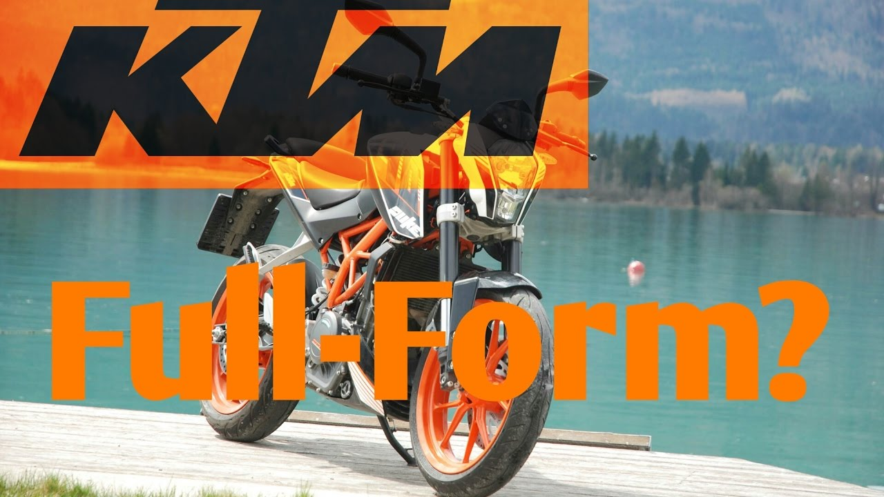 do you know the full-form of ktm? - youtube
