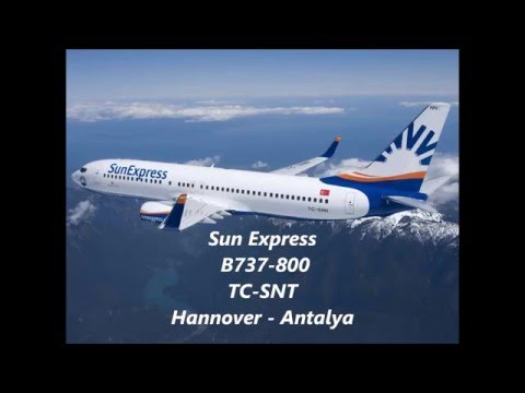 Sun Express | B737-800 | Hannover- Antalya | *full flight*