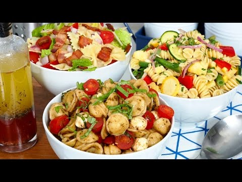 Eco-friendly pasta salad Nutrient dense, fresh easy