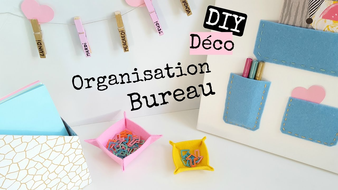 diy 4 d co organisation bureau office room d cor youtube. Black Bedroom Furniture Sets. Home Design Ideas