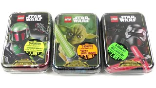 LEGO Star Wars Trading Card Collection Serie 1 / Alle 3 Mini Tins