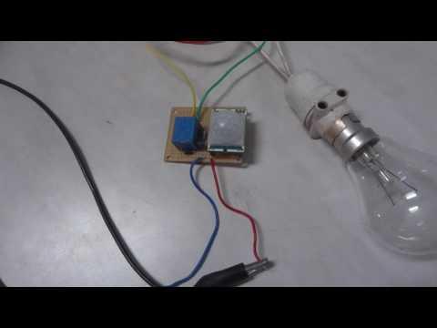 Motion Sensing light Using PIR motion sensor