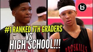 #1 Ranked 7th Grade Team Vs High Schoolers!  Full Tournament Highlights!