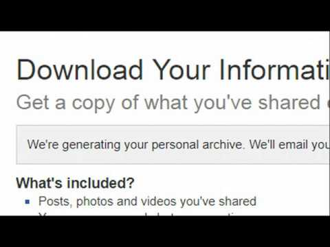 Here's How To Download Your Facebook Data