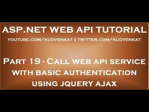 Call web api service with basic authentication using jquery ajax