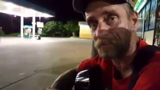 Homeless man tells the truth about today