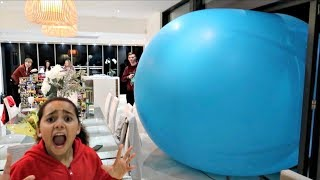 Giant Balloon Surprise Stuck In Our House - Happy New Year 2018 | Toys AndMe