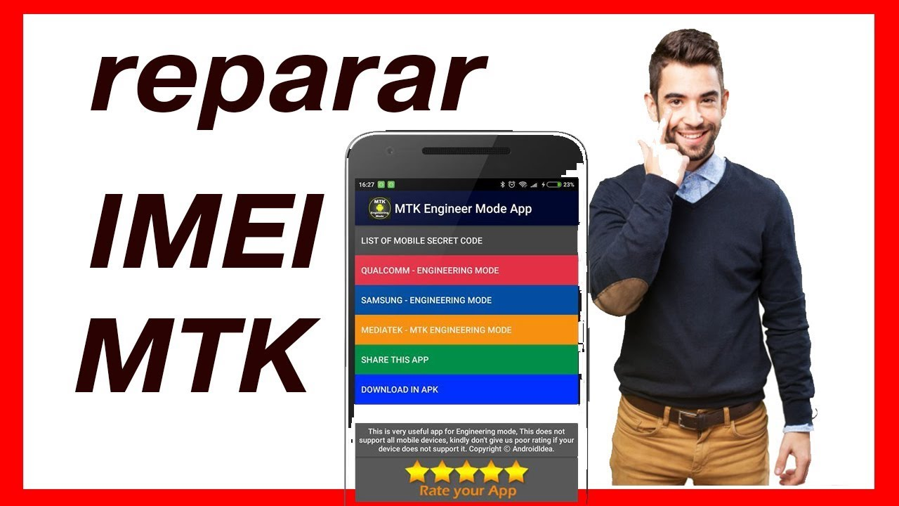 HOW to change or repair IMEI mtk 2018 when it is invalid or null