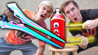NINJA WEAPONS VS SODA!!