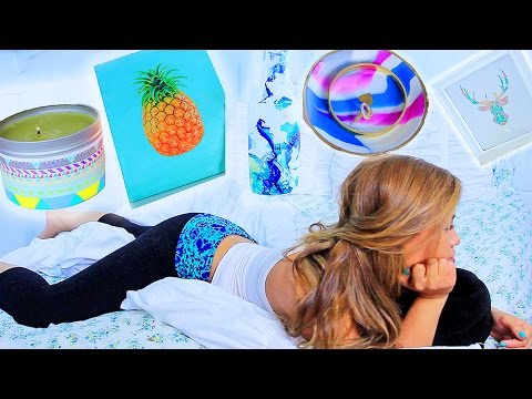 5 awesome diy room decor ideas summer edition youtube for Diy room decorations youtube