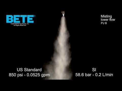 Misting Nozzles: BETE PJ 8