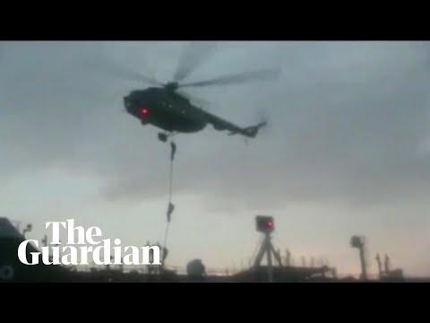 Iran troops rappel