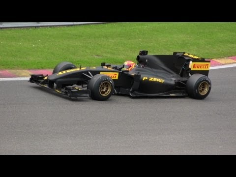 Raw footage of the Pirelli F1 test car @ Spa Francorchamps!! Beautifull Pure Sound! 1080pHD