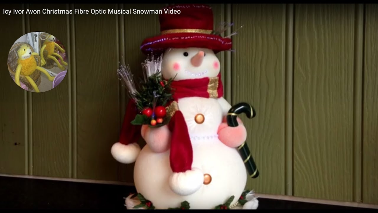 icy ivor avon christmas fibre optic musical snowman video