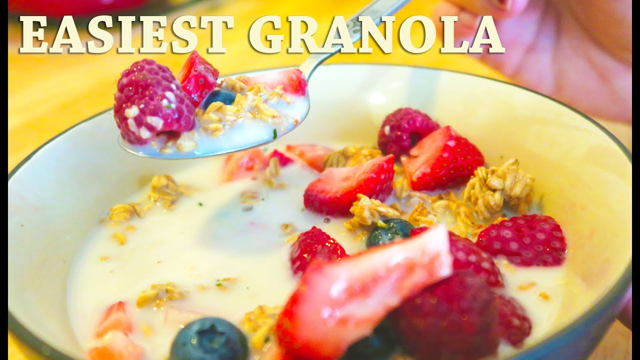 THE EASIEST GRANOLA - FORKS OVER KNIVES RECIPE - YouTube