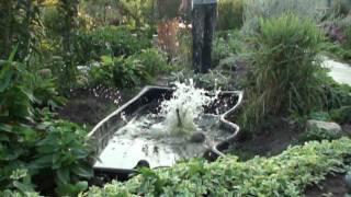 Замедленная съёмка WfalconW Кот падает в воду