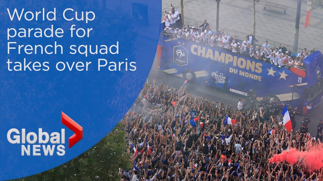 France holds World Cup parade in Paris