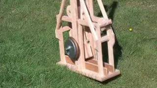 Trebuchet Launches Golfballs