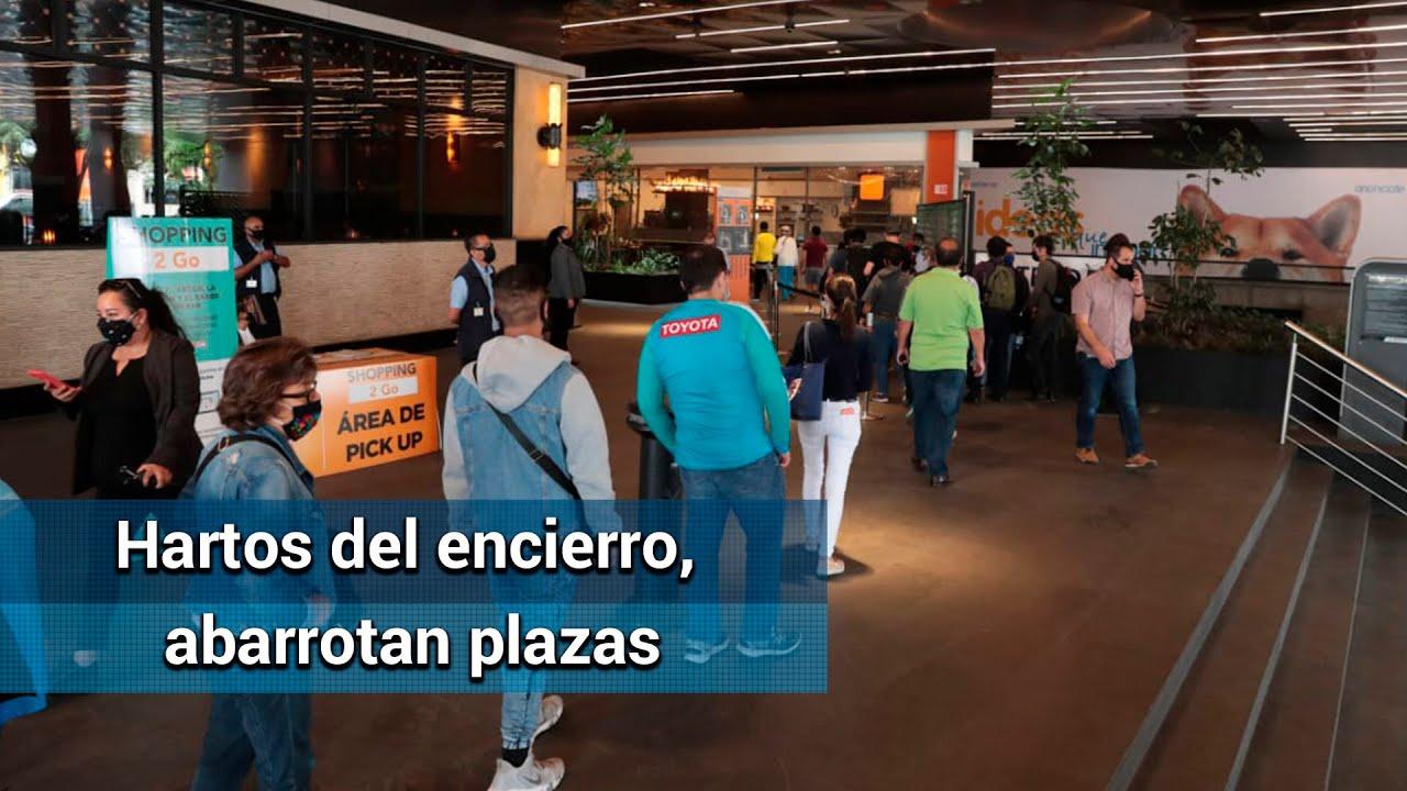 Capitalinos corren a reapertura de centros comerciales, tras meses de cierre