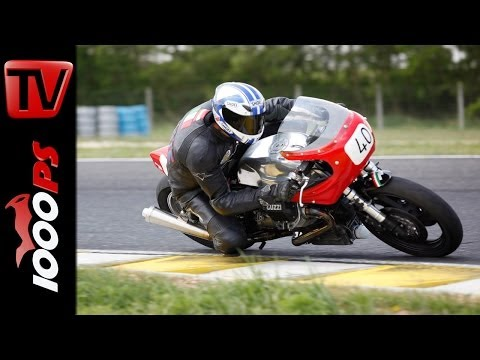 Moto Guzzi Klassiker  by Peter Horvath am Pannoniaring