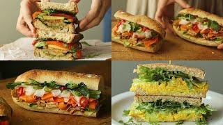 3가지 비건 샌드위치 만들기ㅣ다이어트 샌드위치 : ve…