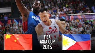 China 🇨🇳 v Philppines 🇵🇭 - Classic Full Games   FIBA Asia Cup 2015