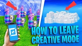 How To Leave Creative Island Bug! Creative Mode Mainland Fortnite