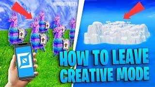Cómo salir de Creative Island Bug! Modo Creativo Fortnite continental