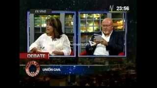Martha Chávez y Carlos Bruce debaten sobre la Unión Civil - Canal N 25.02.2015