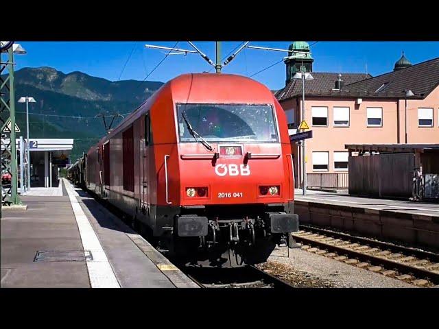 Bahnhof Garmisch-Partenkirchen (mit ÖBB Güterzug, Rh 1016, 2016, Et 442)