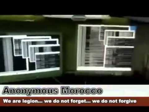 Anonymous Morocco أنونيموس المغرب تهدد حكومة بنكيران - YouTube