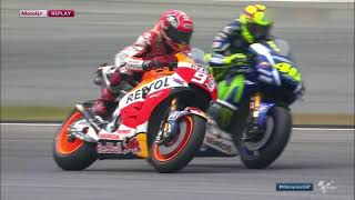 Valentino Rossi vs Marc Marquez Sepang 2015 *FULL BATTLE HD* MOTO GP