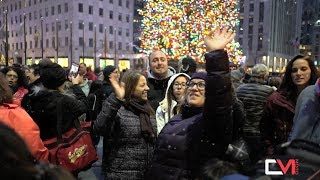 Holidays in new York City, Rockefeller Center Christmas tree, O Holy Night