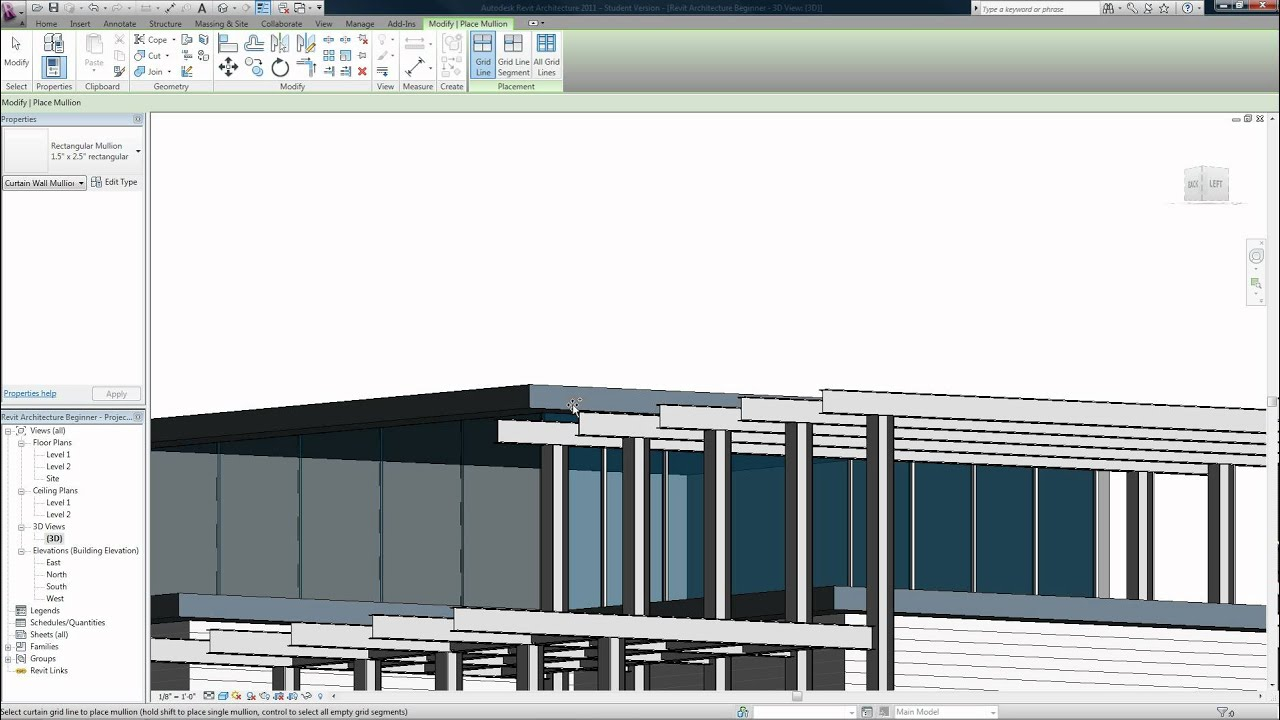 Revit architecture 2011 beginner tutorial 11 (view tab) youtube.
