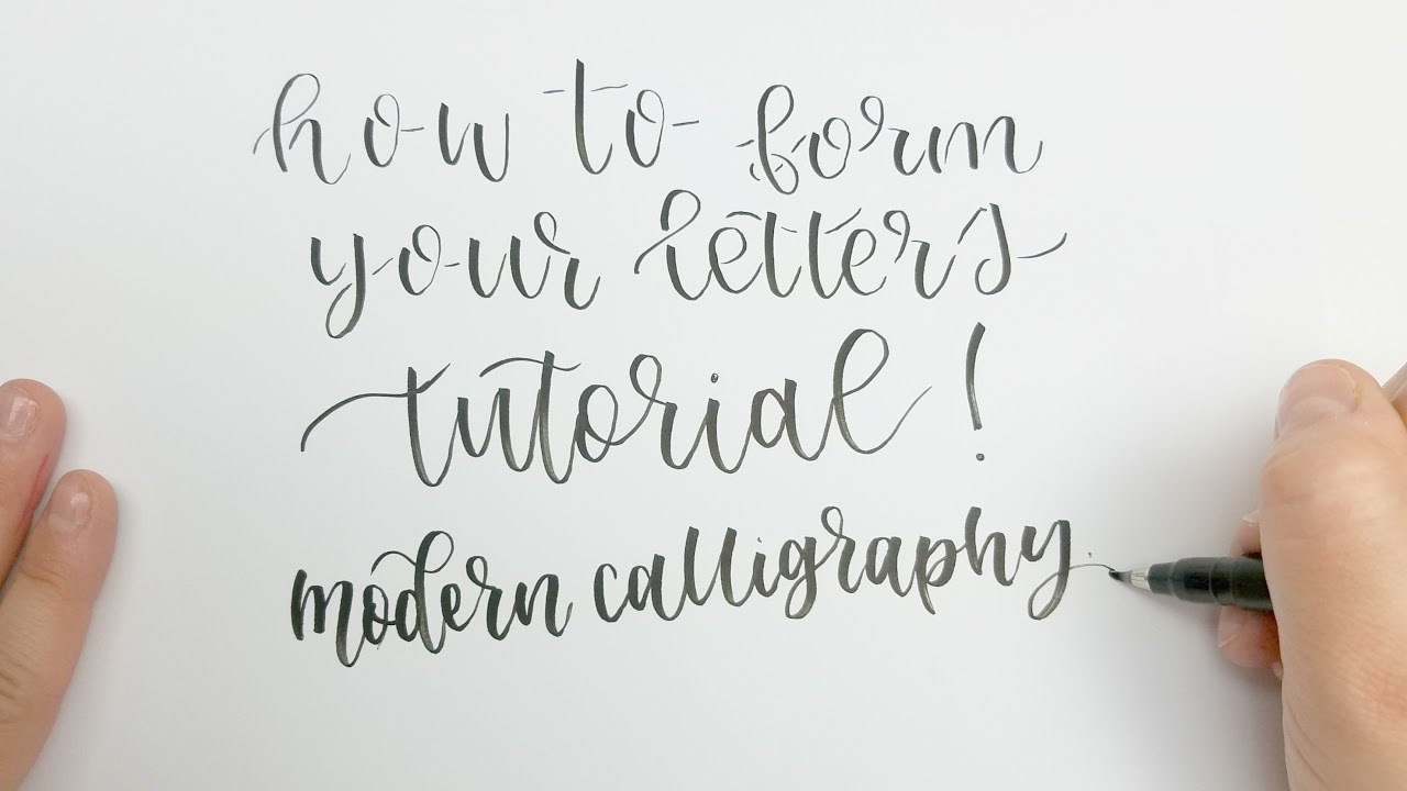 how to form letters in modern calligraphy - the anatomy of a letter